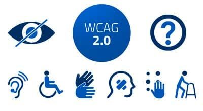 WCAG 2.0 icons